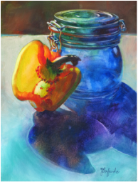 Yellow Bell/Blue Jar #2